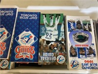 Two Totes Full of Blue Jay Memorabilia