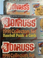 Unopened Don Russ  1991 Baseball Cards/Puzzles