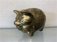 Heavy Brass Piggy Bank-4""