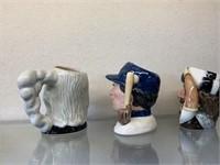 Three Royal Doulton Toby Jugs