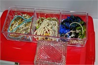 Tub of Assorted Jewelry