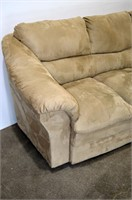 "Beige Upholstered Sofa - 84"" long"