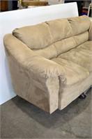 """Beige Upholstered Sofa - 84"""" long"""