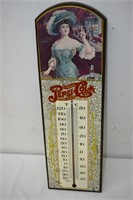 """Wooden Pepsi Cola Thermometer 23"""" Tall"""