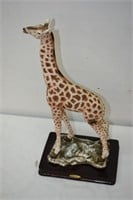 """Alabaster Giraffe by Ruby's Collection 17"""" Tall"""