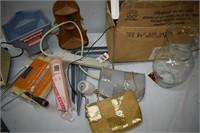 Chisels, Light Bulbs, Paint Items, Blender