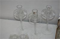 (6) Tall Candleholders, (12) Candleholders