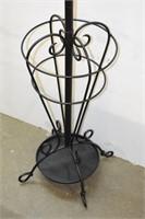 Black Iron Coat Rack & Umbrella Stand
