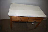 "Vintage Bakers Table 42""x25""x29"" Tall"