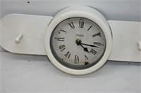 Paris Clock on Coat Rack