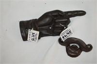Cast Door Knockers, Bottle Opener, Iron Hand