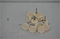 (12) Button Knobs