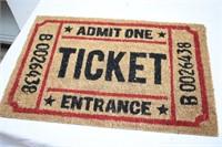 """Ticket Entrance Mat 24""""x16"""""""