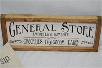 General Store Sign & Dish Cloth