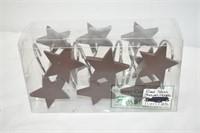 Red Stars Shower Curtain Hooks