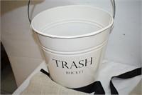 Trash Bucket & (2) Aprons