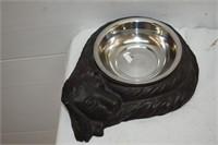 Cast Dog Bowl