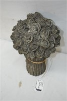 (2) French Grey Rose Bundles & Decorative Can