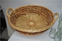 Wicker Basket & Mason Jar Cloche's