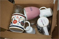 Large Group of Assorted Cups, Plates, Bowls,