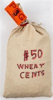 Coin $50 Face Value Lincoln Wheat Cents
