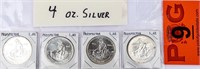 Coin 4 Troy Ounce Prospector .999 Silver Rounds