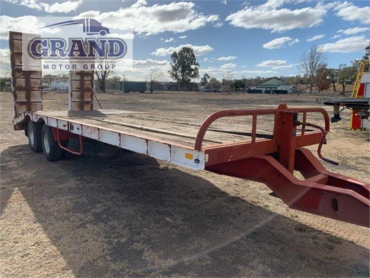 2001 Beavertail Trailers Plant Trailer With Ramps Grand Motor Group - Trailers for Sale
