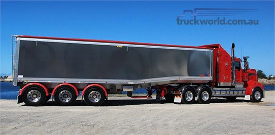 Lusty Ems Drop Deck Chassis Tipper Trailer