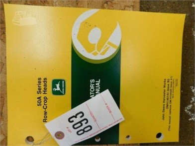 online store sneakers brand new JOHN DEERE 50A SERIES ROW CROP HEADS OPERATOR's MANUAL For Sale ...