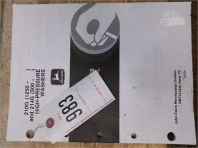 JOHN DEERE JD2120G(1250) & 2146(5000) HIGH PRESSURE WASHERS ... on