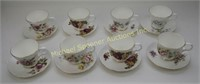 8 ENGLISH CHINA TEA CUPS AND SAUCERS