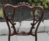 SOLID MAHOGANY CARVED SIDE CHAIR