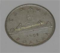 EIGHT PRE-1966 CANADIAN SILVER DOLLAR COINS