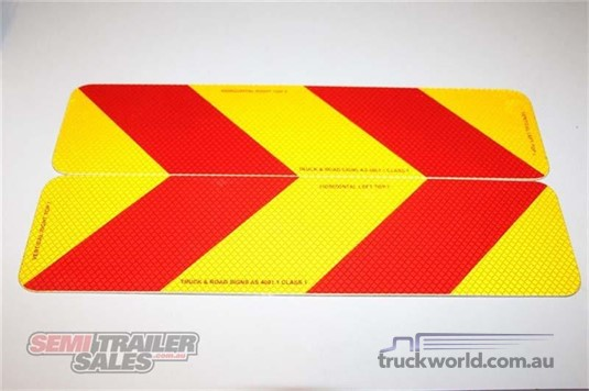 0 Semi Trailer Sales Rear Marker Signs - Truckworld.com.au - Parts & Accessories for Sale