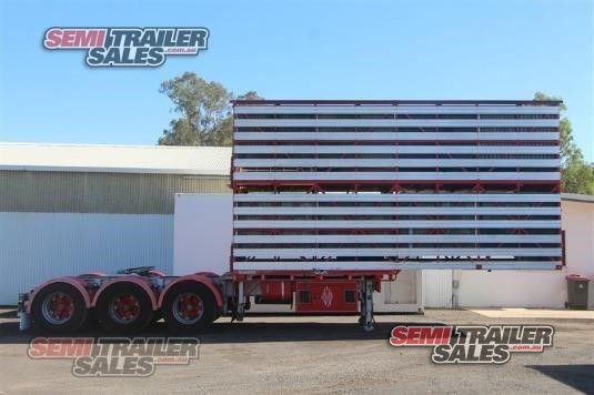 2005 Dickinson Stock Crate Trailer Semi Trailer Sales - Trailers for Sale