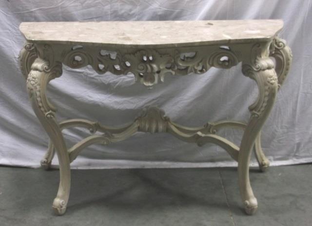 Sofa Table W/ A Granite Top & Cabriole Legs, | United ...
