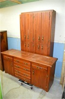 2pc. Wooden Cabinet and Sideboard