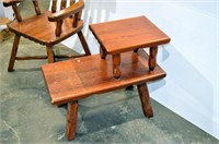 Rustic Pine Chair and End Table