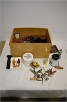 Box of Corkscrews, Cannisters, etc.