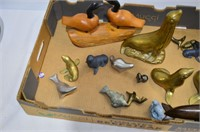 Tray of Seal Figurines, Carved Geese