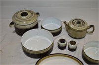 Box of Denby Serving Dishes