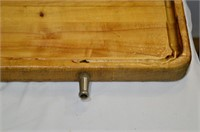 Large Wooden Tray, Box of Kitchen Utensils