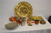 Grp, of Decorative Copper, Brass, Pewter Décor