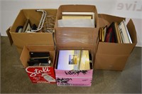 (5) Boxes of Assorted Picture Frames, Prints,