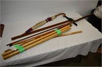 Grp, of Walking Sticks, Umbrella, Ruler, etc.