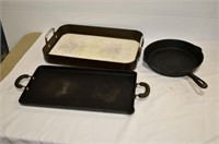 Box of Cast Frypan and Griddle, Baking Pan