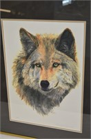 Framed Limited Edition Wolf Print