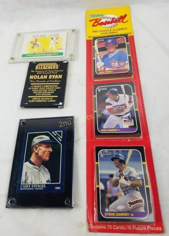 Lot Of Baseball Cards Donruss Gold Nolan Stengel 2nd Cents Inc
