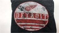 Detroit Red Wings Grey T-shirt Size 3XL Short