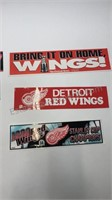 Detroit Red Wings Bumper Stickers Lot Of 7